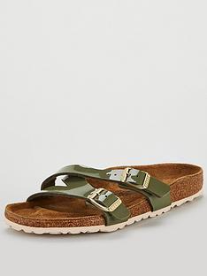 711e985a1844 Birkenstock Yao Balance Buckle Flat Sandals - Khaki