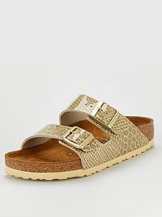 birkenstock-arizona-narrow-fit-flat-sandals-gold-snake