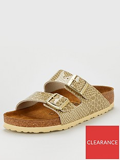 birkenstock-arizona-narrow-fit-flat-sandals-gold-snake