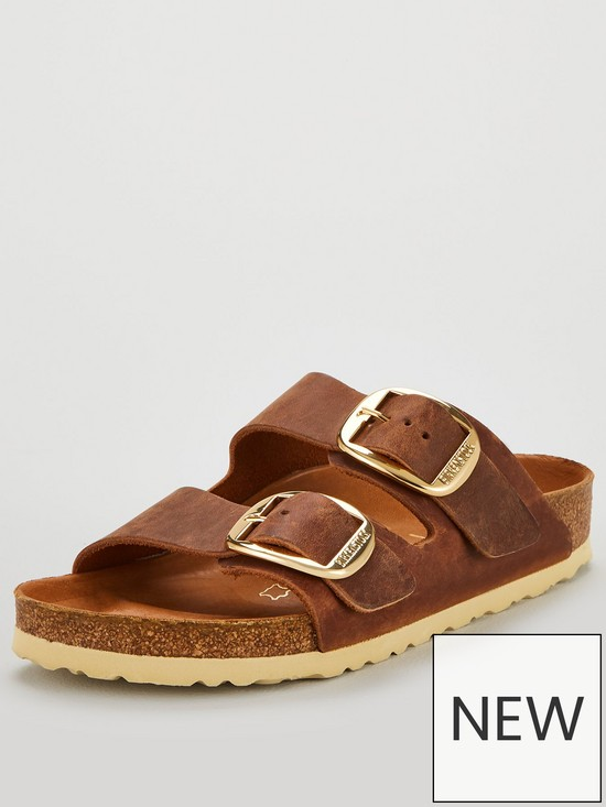 1c2f78384 Birkenstock Arizona Big Buckle Narrow Fit Flat Sandals - Cognac ...