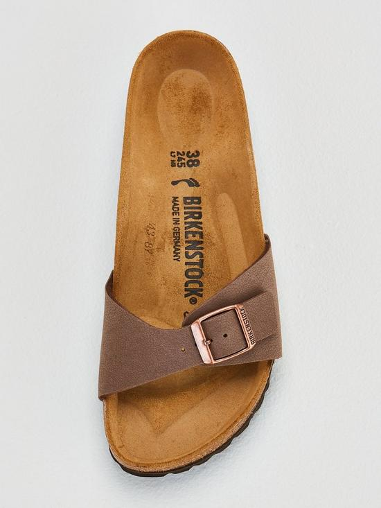8aac96e5044f ... Birkenstock Narrow Fit Madrid Flat Birko-Flor® Sandal Shoes - Mocha. 4  people have looked at this in the last couple of hrs.