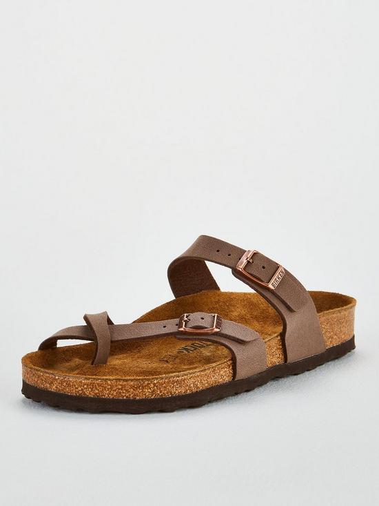 77b4cea0cb0 Birkenstock Mayari Crossover Thong Strap Flat Sandal Shoes - Mocha