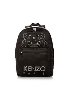 kenzo-glitter-tiger-satin-backpack-black