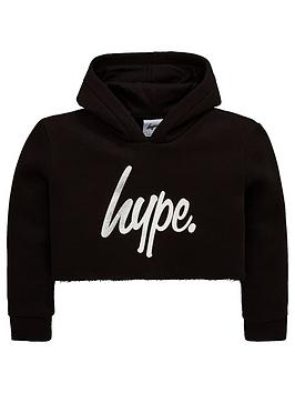 hype-girls-cropped-script-overheadnbsphoodienbsp--black