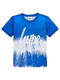 10696abc2 Hype Boys Drip Fade Short Sleeve T-Shirt - Blue