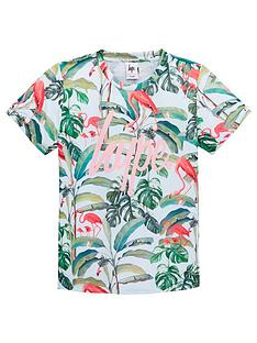 hype-girls-flamingo-paradise-short-sleeve-t-shirt-pink