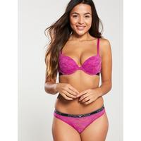 6595cef667a5b Emporio Armani Sporty Lace Push Up Bra - Purple