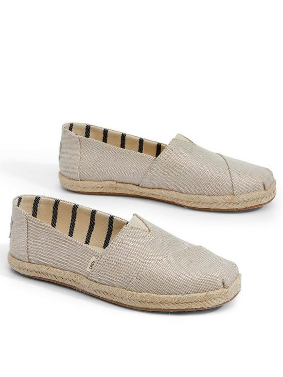 db8fea4b0f9 Toms Vegan Alpargata Espadrille - Natural | very.co.uk