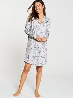 c748237d408 Joules Verity Printed Nightshirt - Grey Floral