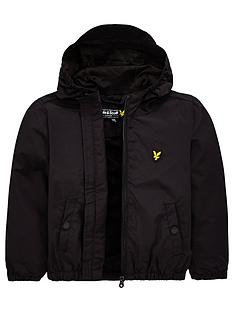 92e895f48 Lyle & Scott Boys Classic Hooded Wind Cheater Jacket - Black