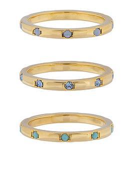 accessorize-z-range-3x-hammered-swarovski-rings-gold