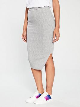 v-by-very-ribbed-jersey-midi-skirt