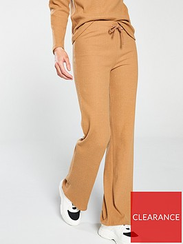 v-by-very-ribbed-loose-co-ord-pants-camelnbsp