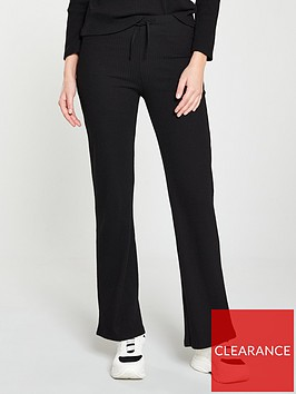 v-by-very-ribbed-loose-co-ord-pants-black