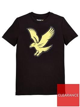 lyle-scott-boys-short-sleeve-eagle-logo-t-shirt-black