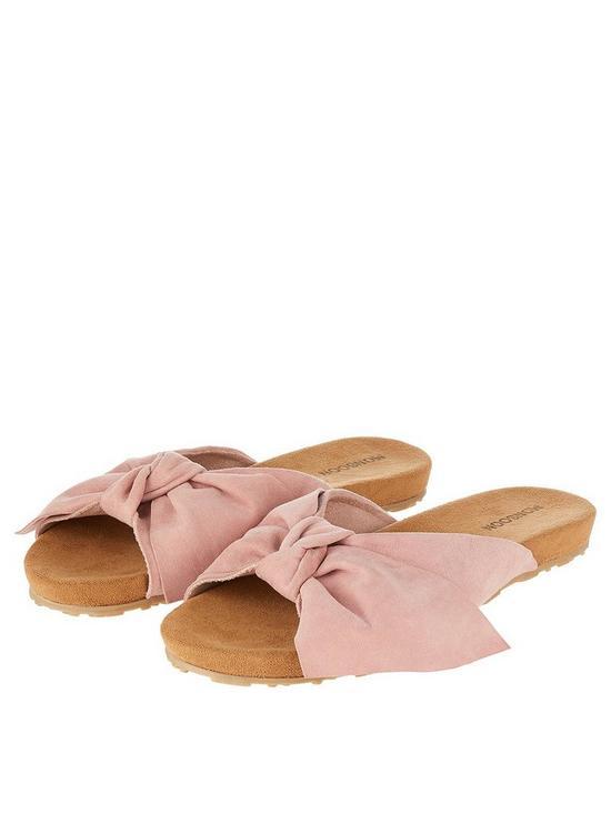 79b8a1c789e2e Monsoon Ollie Oversized Bow Slide Sandals - Pink