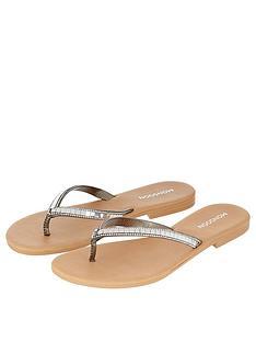 monsoon-marvel-mirror-diamante-toe-post-sandals-silver