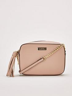 cb2139f8813 Carvela Bessie Tassel Chain Bag - Taupe
