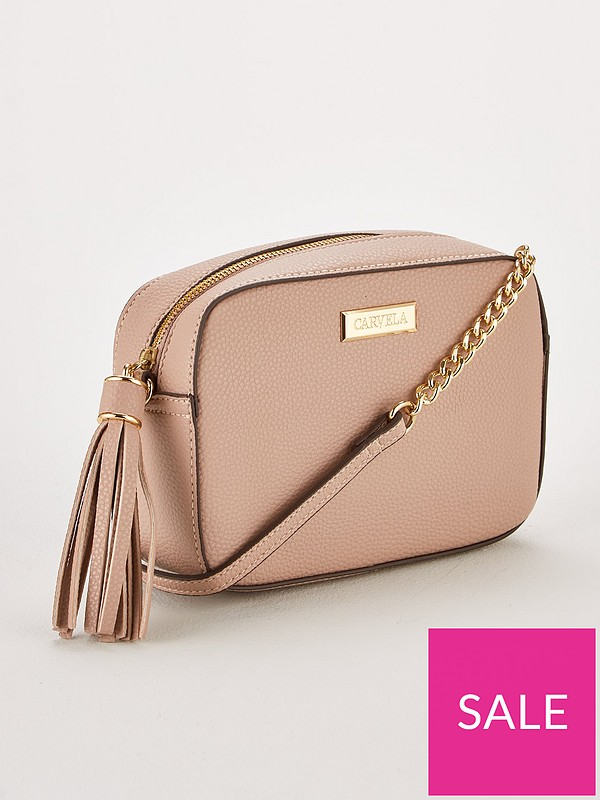 6f7513bd65d Carvela Bessie Tassel Chain Bag - Taupe | very.co.uk