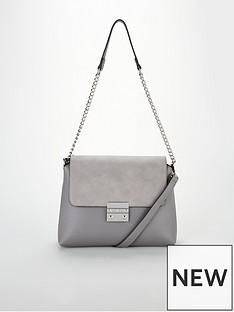 e4a2fd10c78 Carvela Carvela Blink Chain Handle Suedette Shoulder Bag