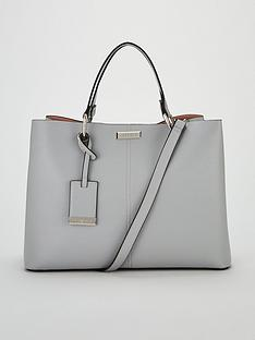 Carvela Samantha Large Slouch Tote Bag - Light Grey 26588965f234d