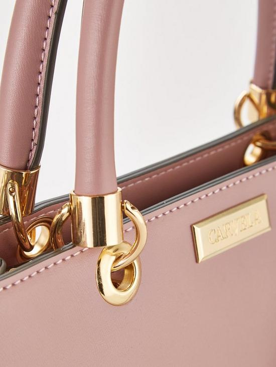 bdc01562d8 ... Carvela Darla Comb Structured Tote Bag - Pink. 3 people are looking at  this right now.
