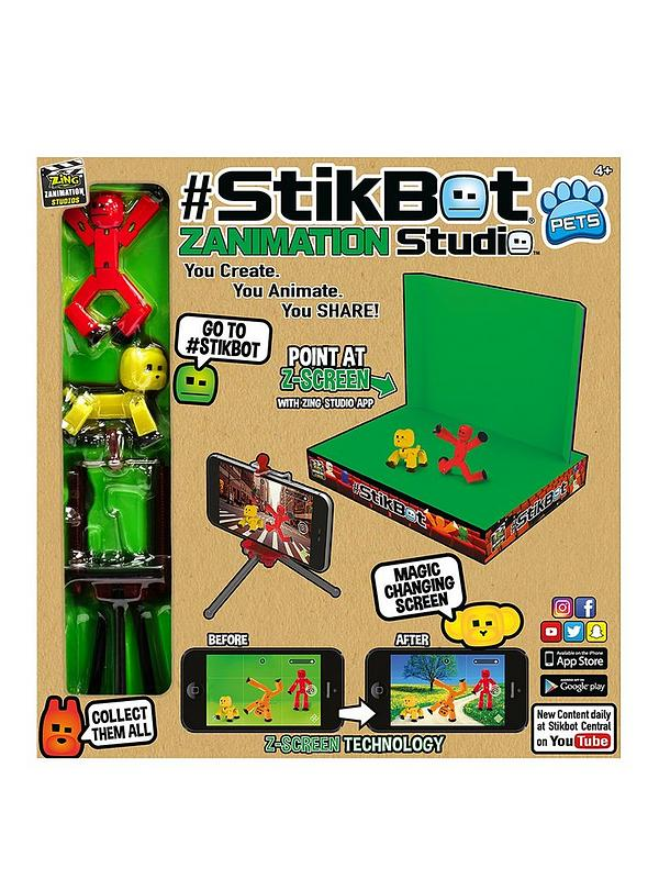 Green Reverse Action Figure Filming Animation Toy Stikbot New In Box   Stikbot
