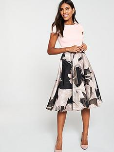 coast-martha-floral-v-back-pocket-dress-blush