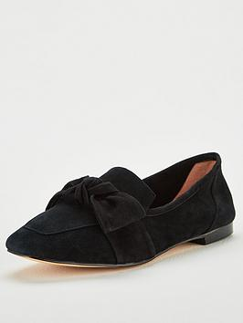 office-florin-bow-loafers-black