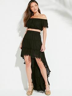 south-beach-bardot-top-and-drop-hem-ruffle-skirt-co-ord-black