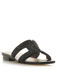 dune-london-libi-woven-detail-flat-smart-sandals-black