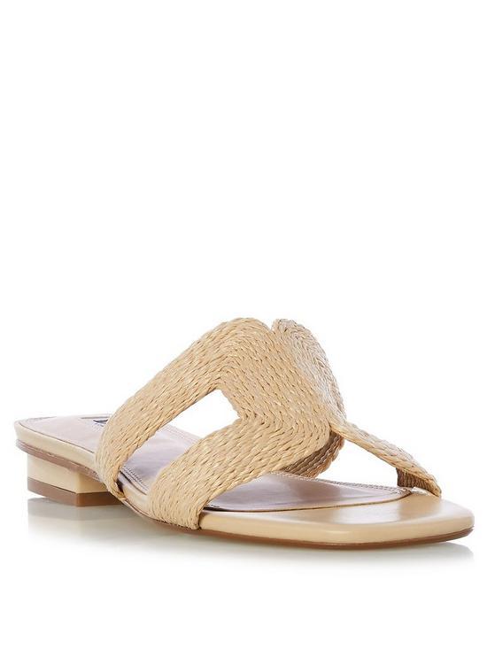 3858ac0dd5ce Dune London Libi Woven Detail Flat Smart Sandals - Natural
