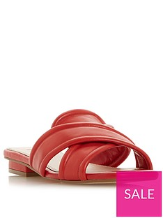 dune-london-ludo-padded-flat-sandals-red