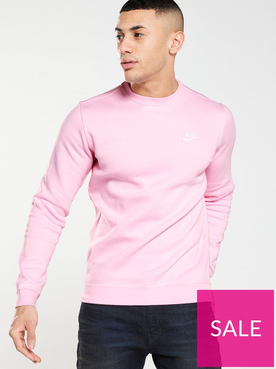 5ff796c66 Nike Sportswear Club Fleece Crew Neck Sweat - Pink | very.co.uk