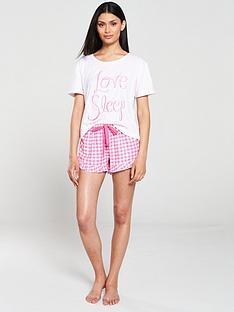 boux-avenue-love-sleep-embroidered-tee-and-short-pyjama-set-fuchsia