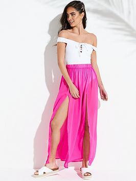 south-beach-double-split-front-maxi-beach-skirt-pink
