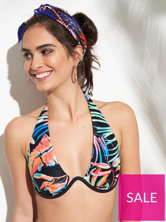 43191385ef ... Ibiza Print Mono Wire Bikini Top - Multi. Purchased 8 times in the last  48 hrs.