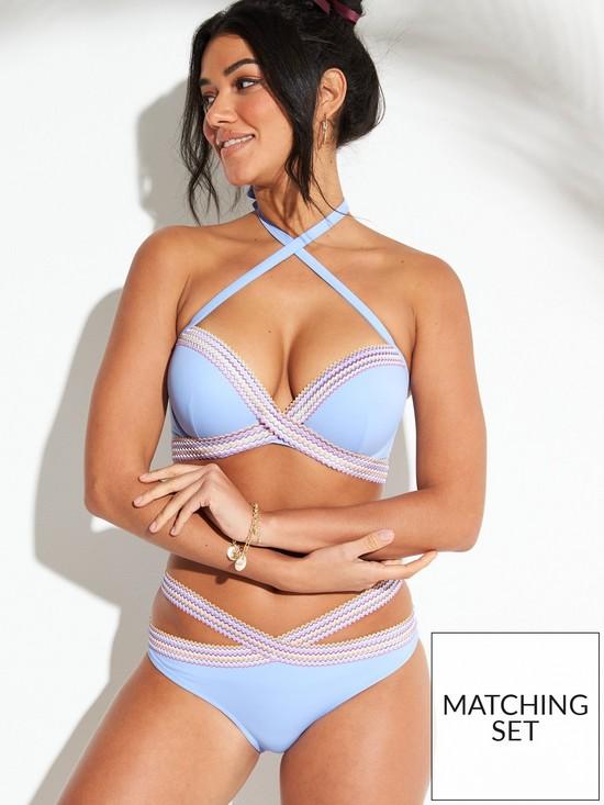 8a71e55bdcad7 Boux Avenue Dominica Single Boost Bikini Top - Powder Blue   very.co.uk