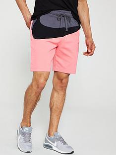 nike-sportswear-colourblock-statement-shorts--nbsppinkblackgrey
