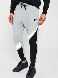 8877450936fb Nike Sportswear Colour Block Statement Joggers - Navy White Blue