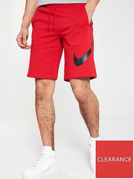 nike-sportswear-club-fleece-logo-shorts-red