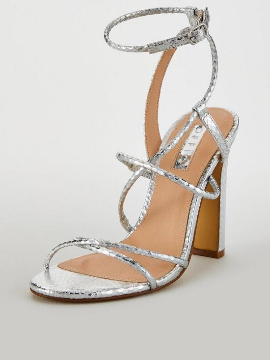 42c00a87b1d OFFICE Heaven Strappy Heeled Sandal - Silver