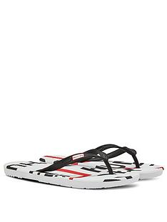hunter-exploded-logo-flip-flops-whiteblackred