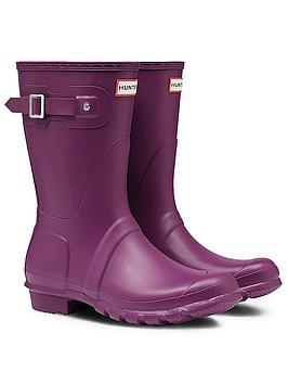 hunter-original-shortnbspwellington-boots--nbspviolet