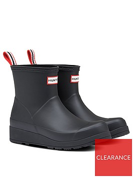 hunter-original-play-short-ankle-wellington-boots-black