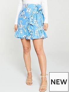 03b2960f07 V by Very Printed Wrap Skirt - Floral Print