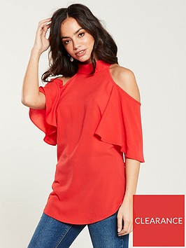 v-by-very-cold-shoulder-top-coral