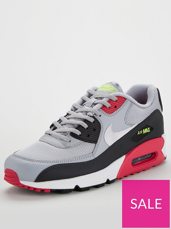 Nike Air Max 90 Essential Mens Trainers Grey Black White 12 UK