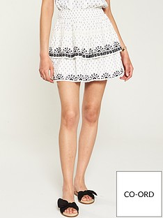 753d4b768 V by Very Embroidered Skirt - Ivory