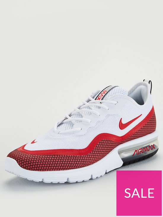 552c2427cf Nike Air Max Sequent - White/Red | very.co.uk